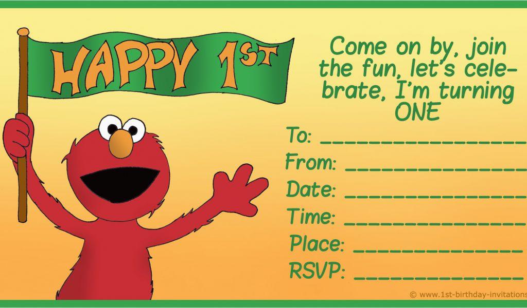 Elmo Birthday Invitations With Photo Free Printable Sesame Street