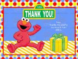 Elmo Birthday Thank You Cards 7 Best Images Of Elmo Printable Birthday Cards Free Elmo