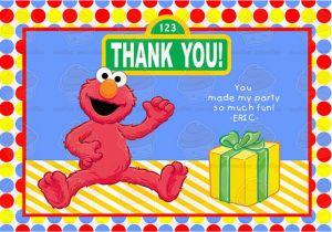 Elmo Birthday Thank You Cards Elmo Sesame Street Birthday Thank You