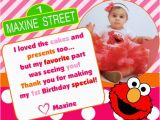 Elmo Birthday Thank You Cards Elmo Birthday Thank You Card by Maxinesmomma On Etsy