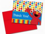 Elmo Birthday Thank You Cards Elmo Children 39 S Birthday Party Thank You by