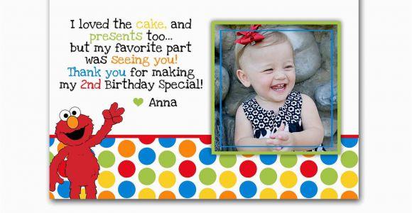 Elmo Birthday Thank You Cards Elmo Photo Birthday Thank You Card Custom for Maryanne