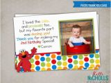 Elmo Birthday Thank You Cards Elmo Photo Thank You Note with Photo by Kellinichollsdesigns