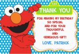 Elmo Birthday Thank You Cards Elmo Thank You Cards Personalized