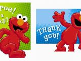 Elmo Birthday Thank You Cards Hooray for Elmo Invite Thank You Card Combo Partymart Com