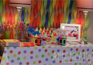 Elmo First Birthday Decorations Artistic Anya Designs And Friends Sesame Street