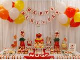 Elmo First Birthday Decorations Real Parties Red orange Elmo Inspired 1st Birthday Party