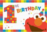 Elmo First Birthday Party Invitations Elmo Turns One Postcard Invitations Elmo 39 S 1st Birthday