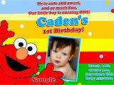 Elmo First Birthday Party Invitations Free Printable Elmo 1st Birthday Invitations