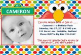 Elmo First Birthday Party Invitations Free Printable Elmo 1st Birthday Invitations Template
