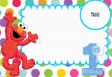 Elmo First Birthday Party Invitations Free Sesame Street 1st Birthday Invitation Template Free