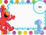 Elmo First Birthday Party Invitations Free Sesame Street 1st Birthday Invitation Template Free