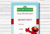 Elmo First Birthday Party Invitations Instant Download Elmo Invitation Elmo 1st Birthday by