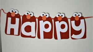 Elmo Happy Birthday Banner Elmo Happy Birthday Banner