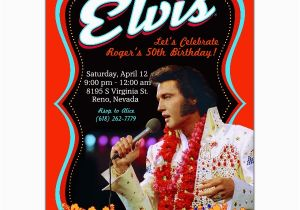 Elvis Birthday Cards Printable Poster Invitations Paperstyle