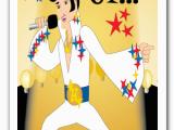 Elvis Birthday Cards Printable Elvis Thank You Greeting Card 80416 Custom Invitations