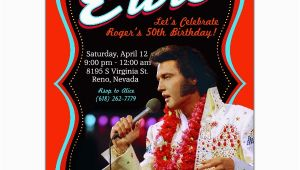Elvis Birthday Invitations Elvis Poster Birthday Invitations Paperstyle