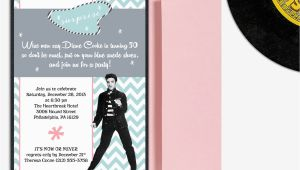 Elvis Birthday Party Invitations Elvis Presley Milestone Birthday Invitation Surprise Party