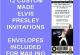 Elvis Presley Birthday Invitations 12 Personalized Elvis Presley Party Invitations Birthday