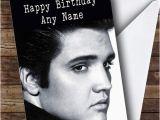 Elvis Presley Personalised Birthday Card Cancer Beatles Friend Male Personalised Card the Card Zoo