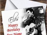 Elvis Presley Personalised Birthday Card Elvis Presley Black White Personalised Birthday Card