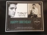 Elvis Presley Personalised Birthday Card Elvis Presley Personalised Birthday Keepsake Certificate