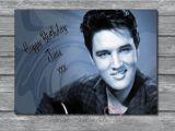 Elvis Presley Personalised Birthday Card Personalised Elvis Presley Birthday Fathers Day Mothers