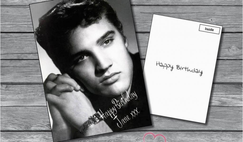elvis presley personalised birthday card personalised