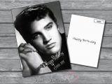 Elvis Presley Personalised Birthday Card Personalised Elvis Presley Birthday Xmas or Any Greetings