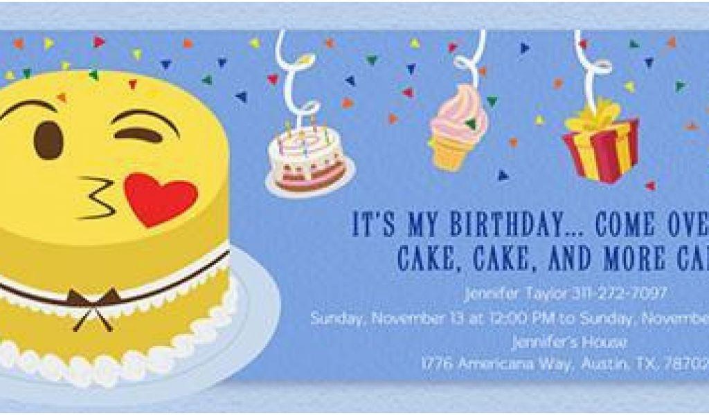 picture regarding Free Printable Emoji Birthday Invitations known as Emoji Birthday Card Template 150 Cost-free Printable Birthday