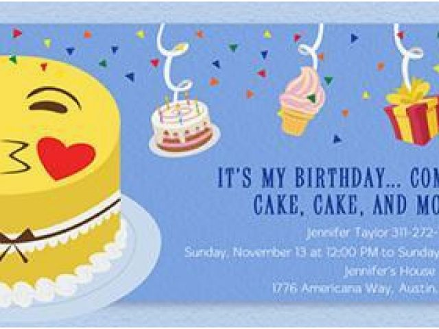 image relating to Free Printable Emoji B Day Invites called Emoji Birthday Card Template 150 Absolutely free Printable Birthday