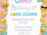 Emoji Birthday Card Template Emoji Birthday Party Invitations Kids Birthday