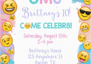 Emoji Birthday Card Template Party Invitations Kids