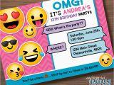 Emoji Birthday Card Template Emoji Invitations Printable Free