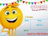 Emoji Birthday Card Template Free Printable Emoji Invitation Template Free Invitation