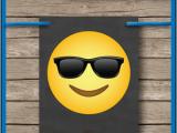 Emoji Happy Birthday Banner Printable Emoji Printable Banner Template for Boys Happy Birthday