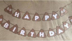 Emoji Happy Birthday Banner Printable Poop Emoji Happy Birthday Banner Can Be Personalized with A