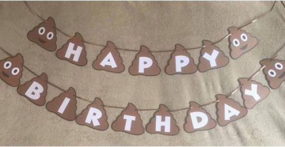 Emoji Happy Birthday Banner Printable Poop Emoji Happy Birthday Banner Can Be Personalized with A