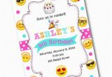 Emoticons Birthday Invitations Emoji Birthday Party Invitation Emoji by Crystalscottdesigns