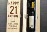 Engraved 21st Birthday Gifts for Him Happy 21st Birthday Personalised Wine Box