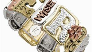 Engraved Birthday Gifts for Her Sentiment Tile Bracelet