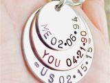 Engraved Birthday Gifts for Him Me You Us Personalized Keychain Christmas for Him Key