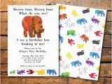 Eric Carle Birthday Invitations 1000 Ideas About Brown Bear Birthday On Pinterest Eric