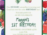Eric Carle Birthday Invitations Very Hungry Caterpillar Invitation