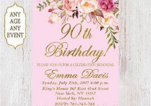Etsy 90th Birthday Invitations Best 25 Ideas On Pinterest 50