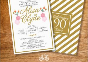 Etsy 90th Birthday Invitations Lijicinu F6cfa3f9eba6