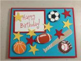 Etsy Birthday Cards for Her Items Similar to Handmade Sports themed Birthday Card On Etsy