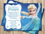 Evite Frozen Birthday Invitations Frozen Birthday Invitation Frozen Princess Elsa Invite