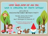 Example Of A Birthday Invitation Glory Girl Art A Woodland Fairy Birthday Party