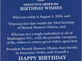 Executive Birthday Cards Mad Parody Obama Executive orders Himself A Happy Birthday